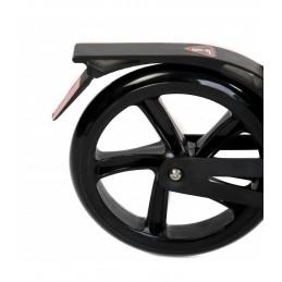 Paspirtukas Urban su amortizatoriais ir stabdžiais, dideli ratai, juodos sp.