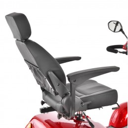 Elektrinis vežimėlis senjorams ir riboto judumo žmonėms 500W HECHT WISE RED/SILVER