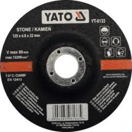 Diskas akmens šlifavimui 125x6,8x22mm. YATO YT-6133