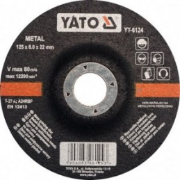 Diskas metalo šlifavimui 125x6,0x22mm. YATO YT-6124