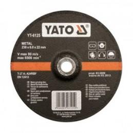 Diskas metalo šlifavimui 125x8,0x22mm. YATO YT-6126