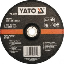 Diskas metalo šlifavimui 230x6,0x22mm. YATO YT-6125