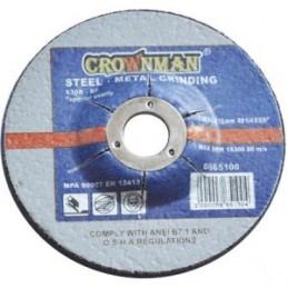 Diskas metalo šlifavimui išgaubtu centru 125x6,0x22,23mm. CRAWNMAN