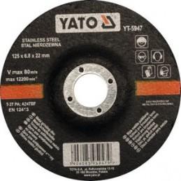 Diskas nerūdijančio plieno šlifavimui 125x6,8x22mm. YATO YT-5947