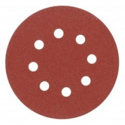 Diskeliai šlifavimo popieriaus 125mm. P80 5vnt. su skylutėmis lipnus YATO YT-83453