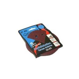 Diskeliai šlifavimo popieriaus 125mm. P60 5vnt. su skylutėmis 381306