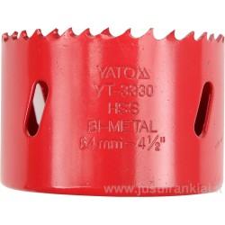 Frezos karūna 83mm. bi-metaline HSS M3 YATO 3338