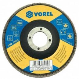 Diskelis šlifavimo lapelių 125mm. P60 VOREL Y-07985