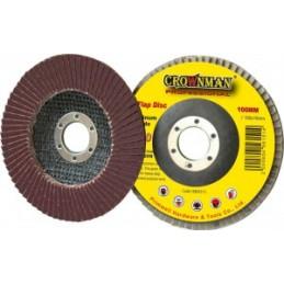 Diskelis šlifavimo lapelių 125mm. P100 CRAWNMAN 0884325-5