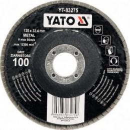 Diskelis šlifavimo lapelių 125x22,2mm. P100 YATO YT-83275