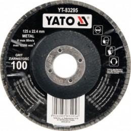 Diskelis šlifavimo lapelių 125x22,2mm. P60 išgaubtas metalui YATO YT-83293