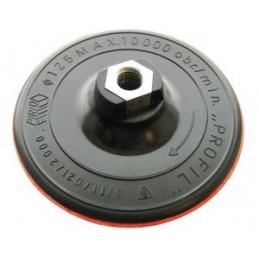 Padas šlifavimos 125mm. guminis lipnus su varžtu M14 VOREL Y-08500