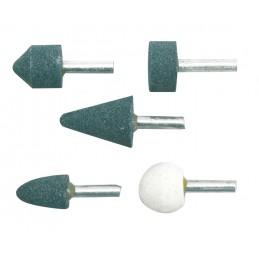 Šlifavimo antgalių rinkinys 5vnt. 6mm. keramikiniai VOREL Y-25400