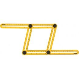 Liniuotė-šablonas 310x175x25mm. reguliuojamas VOREL Y-18470
