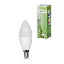 Lemputė LED C37 E14 230V 8W 640LM 3000K gelsva GREELUX