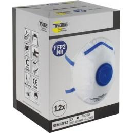 Respiratorius-kaukė su vožtuvu FFP2 12vnt. TRIUSO