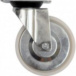 Ratukas Ø125mm. 100kg. vežimėliui fiksuotas poliamidinis VOREL Y-87433