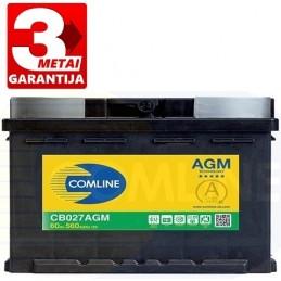 Akumuliatorius 60Ah 560A (+/-) COMLINE AGM CB027AGM