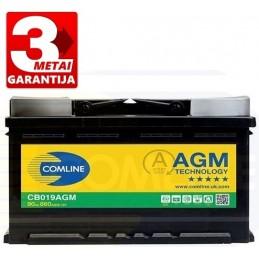 Akumuliatorius 90Ah 860A (+/-) COMLINE AGM CB019AGM