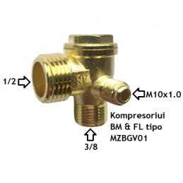Atbulinis vožtuvas kompresoriui BM&FL tipo. Atsarginė dalis