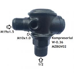Atbulinis vožtuvas kompresoriui V-0,36. Atsarginė dalis