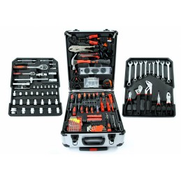 Įrankių rinkinys 187vnt. aliumininiame lagamine su ratukais