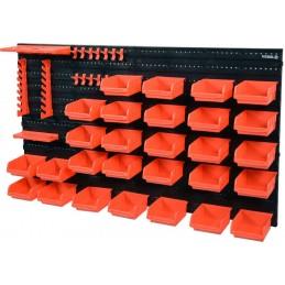 Stendas su dėžutėmis ir laikikliais, 48dalių rinkinys VOREL Y-78771