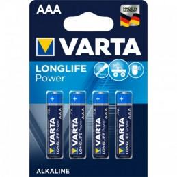 Elementas VARTA ALKALINE LONGLIFE POWER (High Energy) LR03 AAA 4vnt.