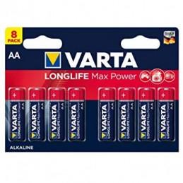 Elementas VARTA LONGLIFE MAX POWER ALKALINE LR6 AA 8vnt.