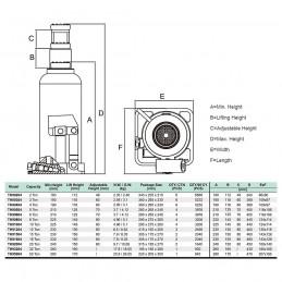 Hidraulinis domkratas 3T Hmin/max-188/363mm.