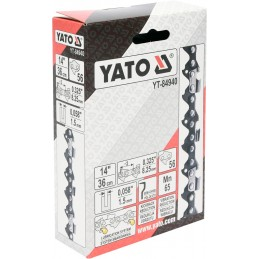 """0,325"""" 1,5mm., 56narelių, 36cm. 14"""" grandinė pjūklui YATO YT-84940"""