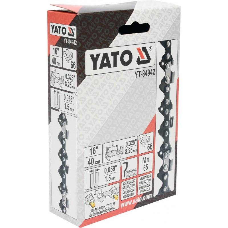 """0,325"""" 1,5mm., 66narelių, 40cm. 16"""" grandinė pjūklui YATO YT-84942"""