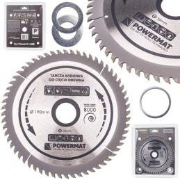 Diskinis pjūklas 190x30/16/20/25,4x60Z medienai TDD-190x30x60Z