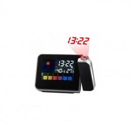 Projekcinis laikrodis su LCD ekranu ir oro sąlygų matavimų