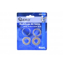 Redukciniai žiedai 32/30-25,4-20-16mm. 4vnt. komplektas G00195