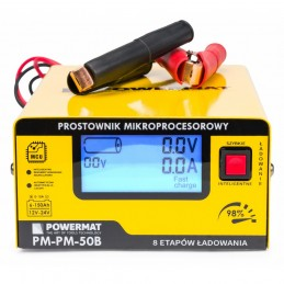 Akumuliatoriaus pakrovėjas su mikroprocesoriaus valdymu 12/24V PM-PM-50B