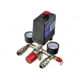 Slėgio rėlė 230V su reguliatoriumi ir manometrais G80306