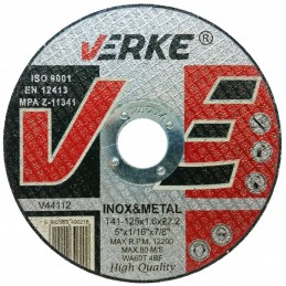 Diskas metalui 125x1,6x22,2mm. V44112