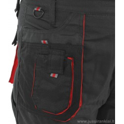 Kelnės darbinės juodos/raudonos YATO 80147-51