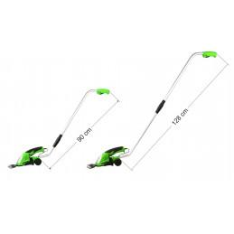 Žolės/gyvatvorių žirklės, akumuliatorinės 7,2V/1,2Ah su prailginta rankena G83014A