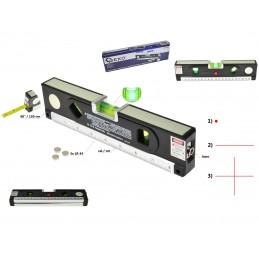 Gulsčiukas daugiafunkcinis su lazeriu ir 1,5m. rulete G03311