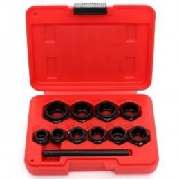 Pažeistu veržlių atsukėjų rinkinys 10vnt. 9-19mm. KD10269