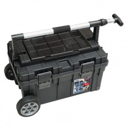 Dėžė įrankiams 710x400x355mm. PVC ant ratukų N0210