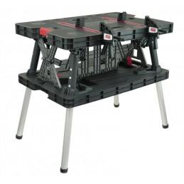 Darbo stalas 755x910x550mm. sulankstomas su spaustuvais N120