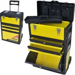 Dėžė įrankiams su ratukais 52x32x72cm. CROWNMAN