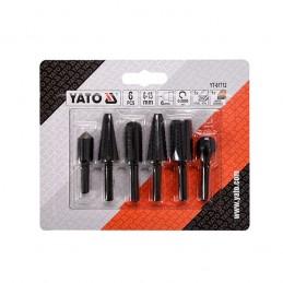 Frezos metalui 3vnt. ir medžiui 3vnt. YATO YT-61712