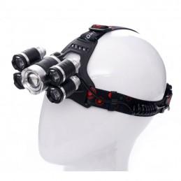 Prožektorius T6LED ant galvos, įkraunamas KD1248