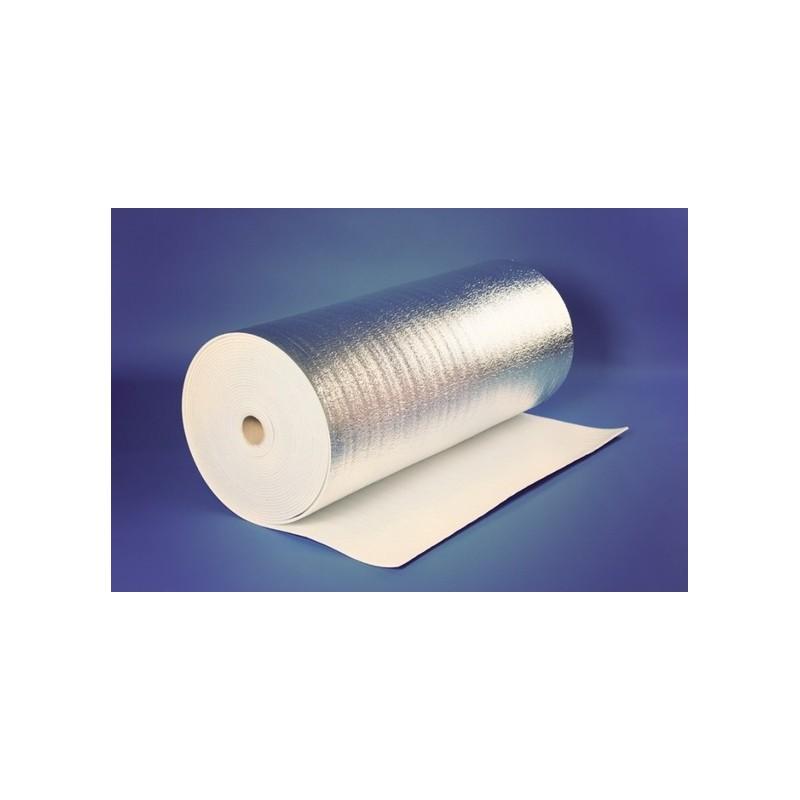 Metalizuota 2mm. pusta polietileno plėvelė 60m2, 50mx1,2m Reflekt