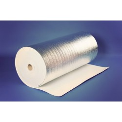 Metalizuota 5mm. pusta polietileno plėvelė 60m2, 50mx1,2m. Reflekt