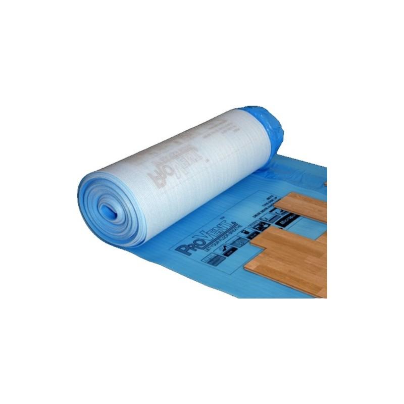 Paklotas 2,3mm. 1,2x12,5m. su hidroizoliacine plėvele, tinka šildomoms grindims PROVENT